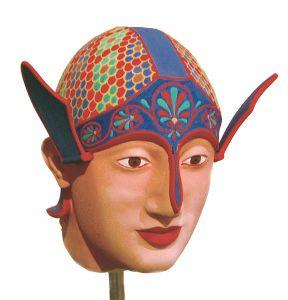 Painted Greek Warrior Head