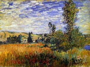 Landscape at Vetheuil, by Claude Monet