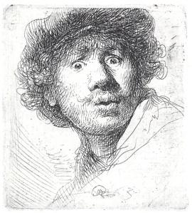 SELF PORTRAIT, WIDE-EYED 1630