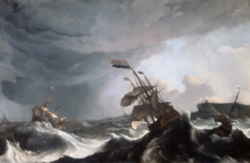 Ludolf Bakhuysen's Ships in a Storm