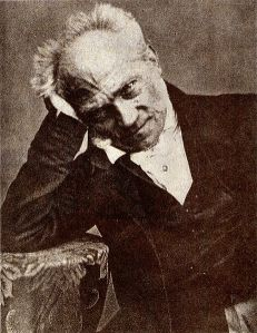 And here's a photo of Schopenhauer from a Brazilian philosophy newspaper in 1859. He seems to be having a super intense moment of aesthetic contemplation...