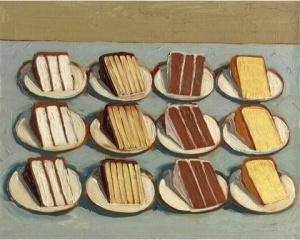"""Cut Cakes"" (1961), Wayne Thiebaud"