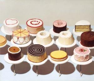 """""""Cakes"""" (1963), Wayne Thiebaud"""
