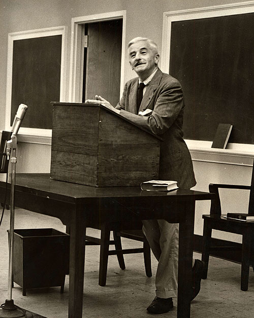 biography of william faulkner essay William faulkner address at west point military academy (april 19-20, 1962) added to the national registry: 2005  essay by robert w hamblin (guest post.