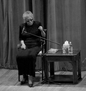 Maya Angelou addresses students and staff at Tennessee Technological University, 2012
