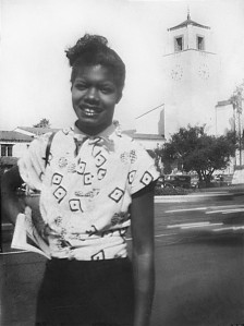 16-year-old Maya Angelou in San Francisco.