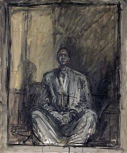 """Alberto Giacometti, """"Portrait of Jean Genet"""", 1954 – 1955)"""