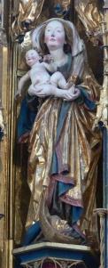 Kloster Blaubeuren, Klosterkirche, Chorraum - Hochaltar Madonna