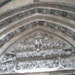 above the doors of Saint-Maclou Church in Rouen, Normandy