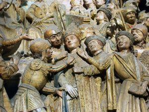 Sculptures of the life of Saint Firmin (detail), choir of the cathedral Notre-Dame in Amiens, France