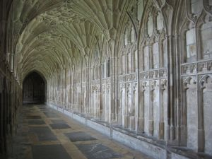 South cloister of Gloucester Cathedral