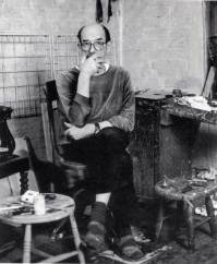 Euan Uglow in his studio